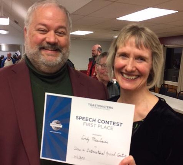Speech and Evaluation Contests at Skwim Toastmasters Club image