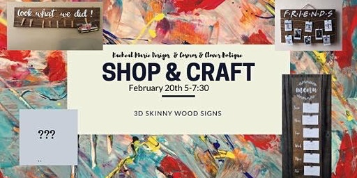 Shop & Craft: 3D Wood Skinny Signs