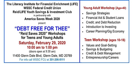 Debt Free Financial Workshop for Teens & Young Adults tickets