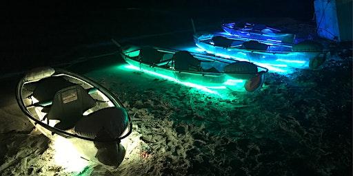 Neon NIGHT Transparent Kayak Miami Beach