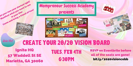 Create Your 20/20 Vision Board - Cobb/Fulton tickets