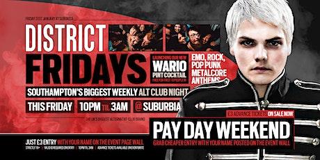 DISTRICT Southampton // Emo & Alternative Club Night // Friday @ Suburbia tickets
