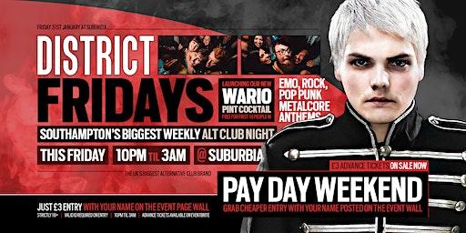 DISTRICT Southampton // Emo & Alternative Club Night // Friday @ Suburbia