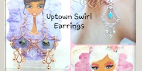 Uptown Swirl Wire Earrings - Jewelry Making tickets