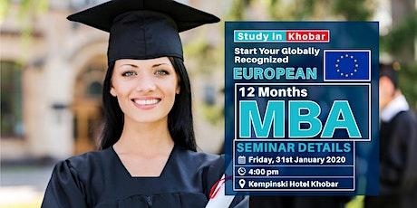 Free MBA Seminar - 31st January - Khobar tickets