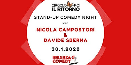 Stand-up Comedy Night with Nicola Campostori + Davide Sberna biglietti