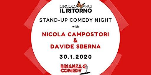 Stand-up Comedy Night with Nicola Campostori + Davide Sberna
