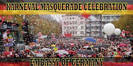 KARNEVAL MASQUERADE CELEBRATION AT THE EMBASSY OF GERMANY tickets
