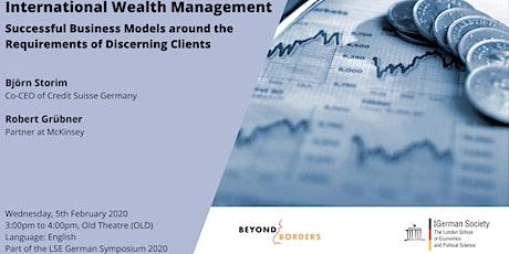 International Wealth Management tickets
