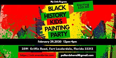 Black History  Kids Painting Party