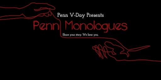 Penn's 2020 V-Day Movement Presents: Penn Monologues