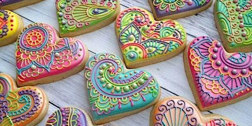 Mandala Heart Sugar Cookie Decorating at Soule' Studio starting @ 6 pm