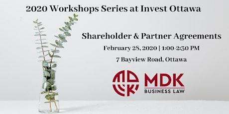 Shareholder & Partner Agreements - MDK Workshop Series tickets