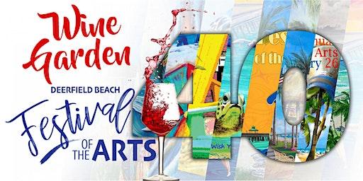 40th Annual Festival of the Arts Wine Garden Area