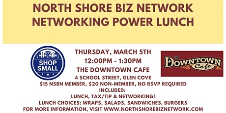 NSBN Network Power Lunch at Downtown Cafe tickets