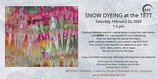 SNOW DYEING at the TETT