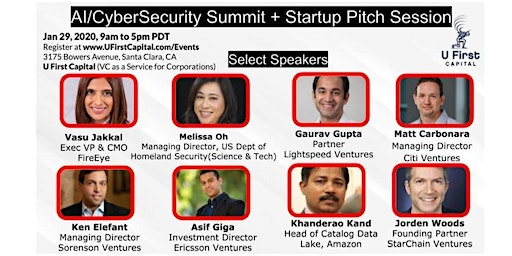 AI and CyberSecurity Summit + Startup Pitch Session by U First Capital