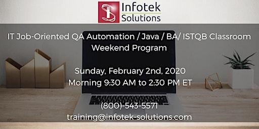 Launching New Career Change Job-Oriented QA Automation / BA Weekend Program