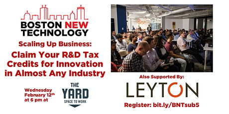 Scaling Up Business: Claim Your R&D Tax Credits for Innovation in Almost Any Industry tickets