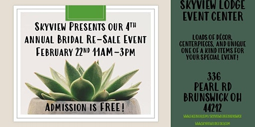 4th Annual Bridal Re-Sale Event at Skyview!