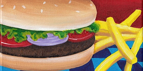 Kids & Grown-Ups Hamburger & Fries Paint Party at Brush & Cork tickets