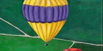 Kids & Grown-Ups Hot Air Balloons Paint Party at Brush & Cork