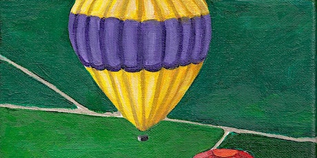 Kids & Grown-Ups Hot Air Balloons Paint Party at Brush & Cork tickets