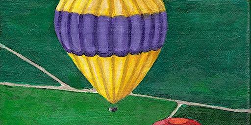 Kids & Grown-Ups Hot Air Balloons Paint Party at Brush & Cork