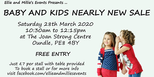 Baby and Kids Nearly New Sale - Oundle - by Ellie and Millie's Events