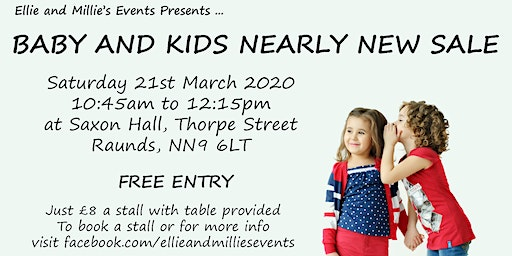 Baby and Kids Nearly New Sale - Raunds - by Ellie and Millie's Events