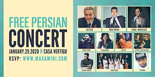Free Persian Concert hosted by Max Amini - 10PM  SHOWTIME***