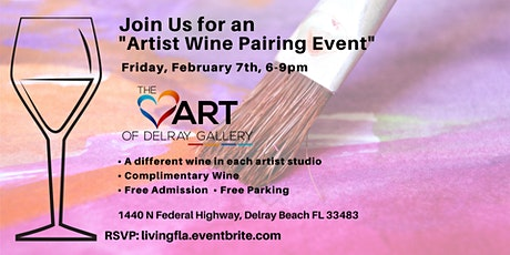 Artist Wine Pairing at the Heart of Delray Gallery Delray Beach tickets