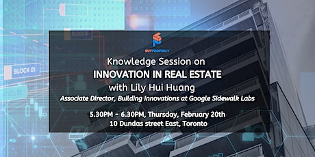 Innovation in Real Estate with Lily Hui Huang tickets