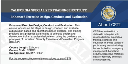 Enhanced Exercise Design, Conduct, and Evaluation (EEDCE)