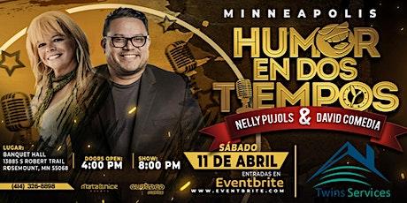 """NELLY PUJOL y DAVID COMEDIA  """"Humor en dos Tiempos"""" boletos"""