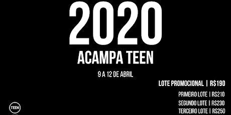 ACAMPA TEEN 2020 ingressos