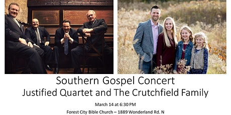 Southern Gospel Concert featuring Justified Quartet and Crutchfield Family tickets