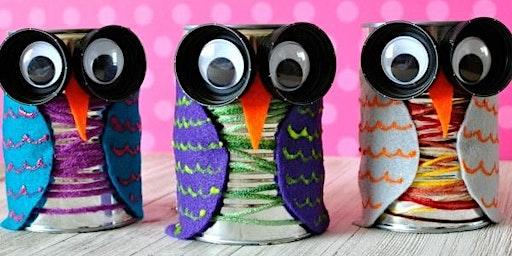 Make a Tin Can Owl (7-12 años)
