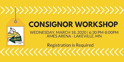 Consignor Workshop March 18