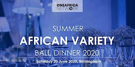 OAN Summer African Variety Ball Dinner 2020 tickets