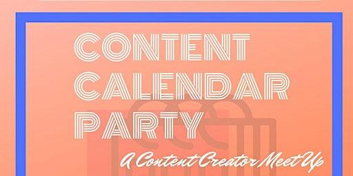 The Content Calendar Party
