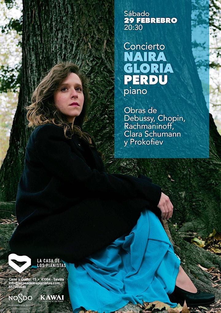 Imagen de Concierto Naira Gloria Perdu, piano (Sábado 29  febrero  2020 a las 20:30h)
