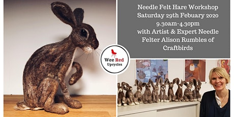 POSTPONED Needle Felt Hare Workshop- With Expert Alison Rumbles of Craftbirds 29/2/20 tickets