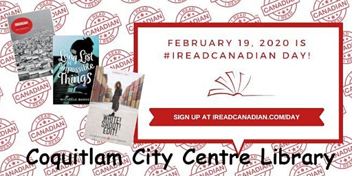 I Read Canadian Day at Coquitlam City Centre Library
