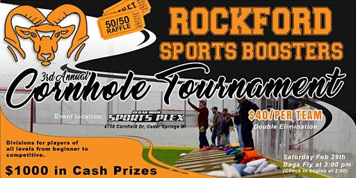 Rockford Sports Boosters 3rd Annual Indoor Cornhole Tournament