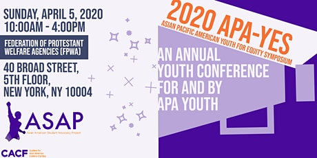2020 APA Youth for Equity Symposium (APA-YES) tickets