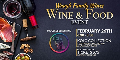 Waugh Family Wines and Food Event At Kolo Collections  tickets