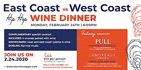 East Coast Vs. West Coast Wine Dinner tickets