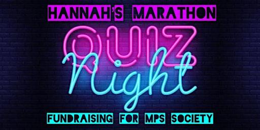 Hannah's Marathon Quiz Night