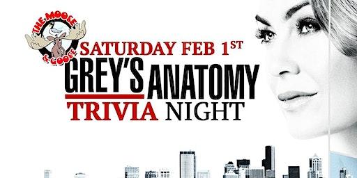 Greys Anatomy Trivia at Moose & Goose
